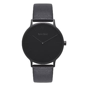 eca92ff00 Amazon.com: 41mm Men's Watch - Ultra Thin Case Minimalist Waterproof Stainless  Steel Dress Classic Fashion Business Wristwatch by Byron Bond (Brompton ...