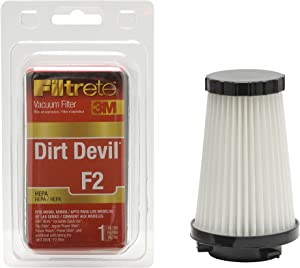 3M Filtrete Dirt Devil F2 HEPA Vacuum Filter - 1 filter(Colors may vary)