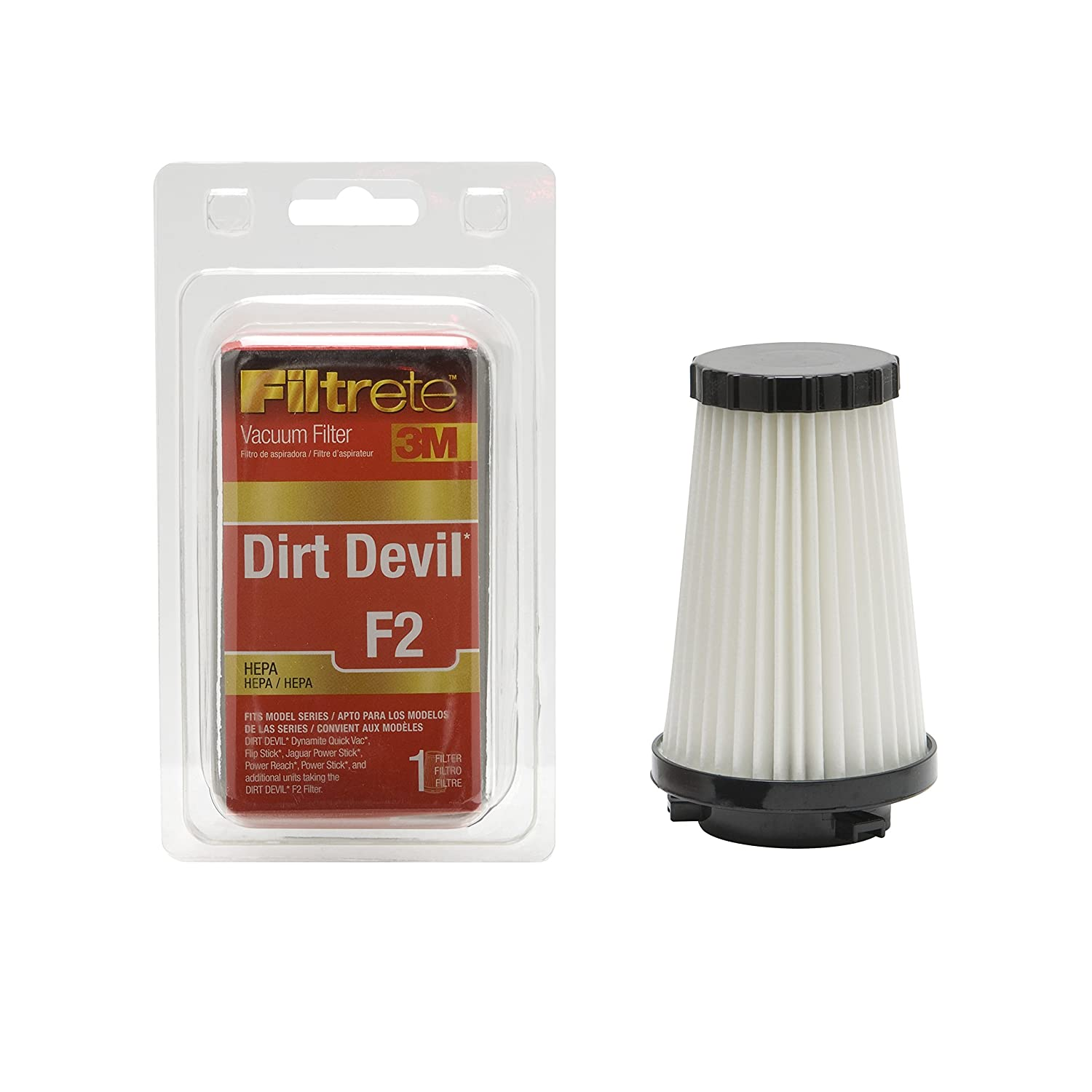 Amazon.com: 3M Filtrete Dirt Devil F2 HEPA Vacuum Filter - 1 filter(Colors  may vary): Home & Kitchen