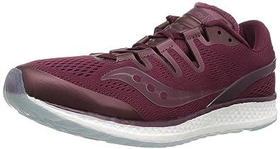 on sale a90fe fd472 Saucony Freedom ISO Unisex Running Shoe, Burgundy, 3.5 Medium US