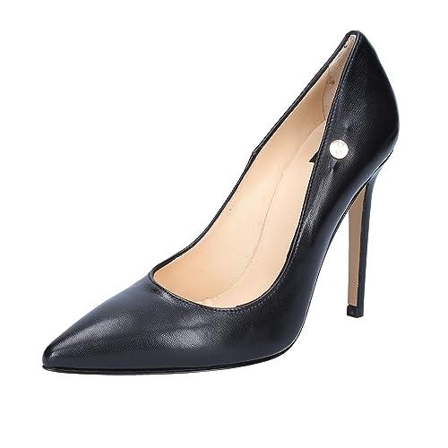 5f9e58a34a6 ISLO ISABELLA LORUSSO - Zapatos de Vestir de Piel para Mujer Negro Negro  Negro Size  36  Amazon.es  Zapatos y complementos