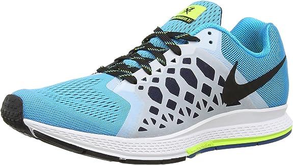 Nike Air Zoom Pegasus 31 - Zapatillas de running de sintético para hombre Multicolor (Blue Lagoon/Blk/Vlt/Drk Obsdn) 47: Amazon.es: Zapatos y complementos
