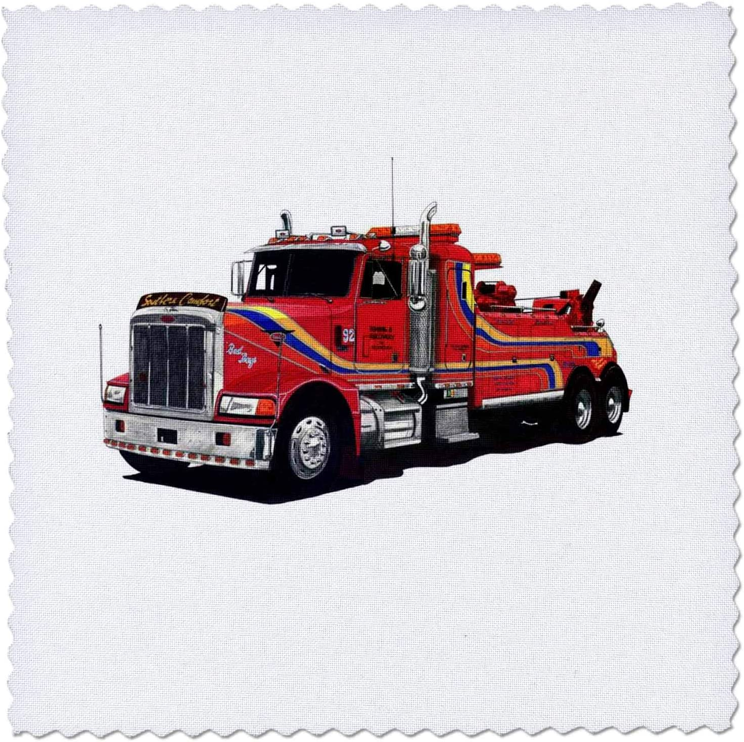 3dRose Trucks qs/_970/_10 25x25 inch quilt square Tow Truck