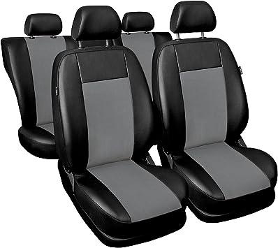 Premium Kunstleder Sitzbezüge Sitzbezug Schonbezüge für Ford Puma Grau Set