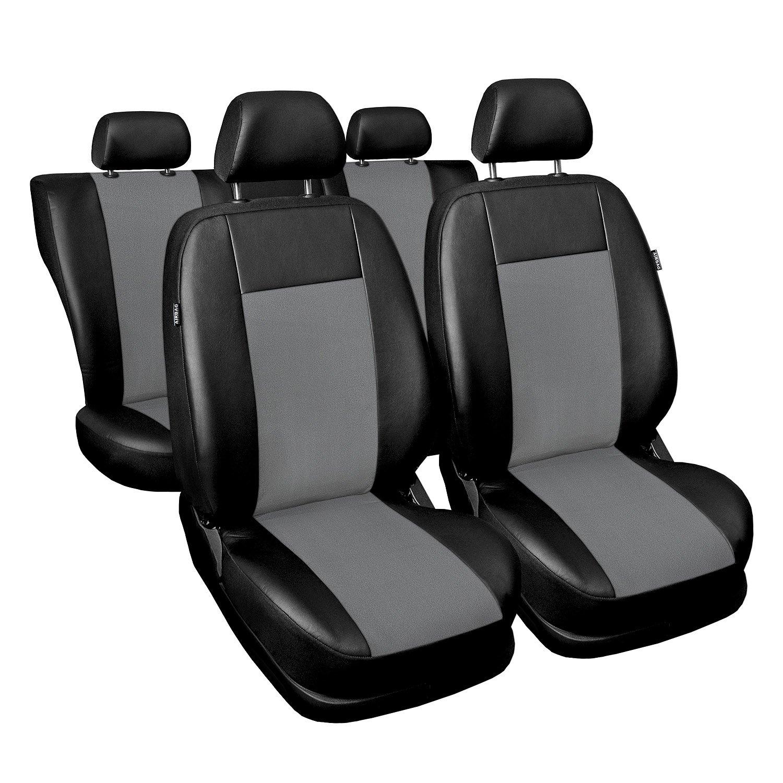 Saferide Universal Schwarz Sitzbez/üge Komplettset Sitzbezug f/ür Auto Sitzschoner Set Schonbez/üge Autositz Autositzbez/üge Sitzauflagen Sitzschutz Modern
