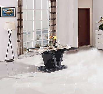 7star Boni Table de salle à manger en effet marbre, design moderne ...
