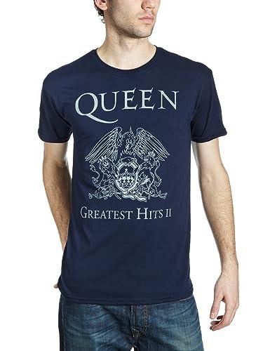 The Braided Rug(ブレイディッド ラグ) Queen Greatest Hits II - Camiseta, con manga corta, con cuello redondo p...