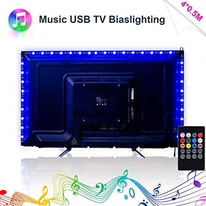 Color Changing Led Light Strips Magnificent Amazon LED Strip Lights Music LED TV Backlight USB 600M60600ft