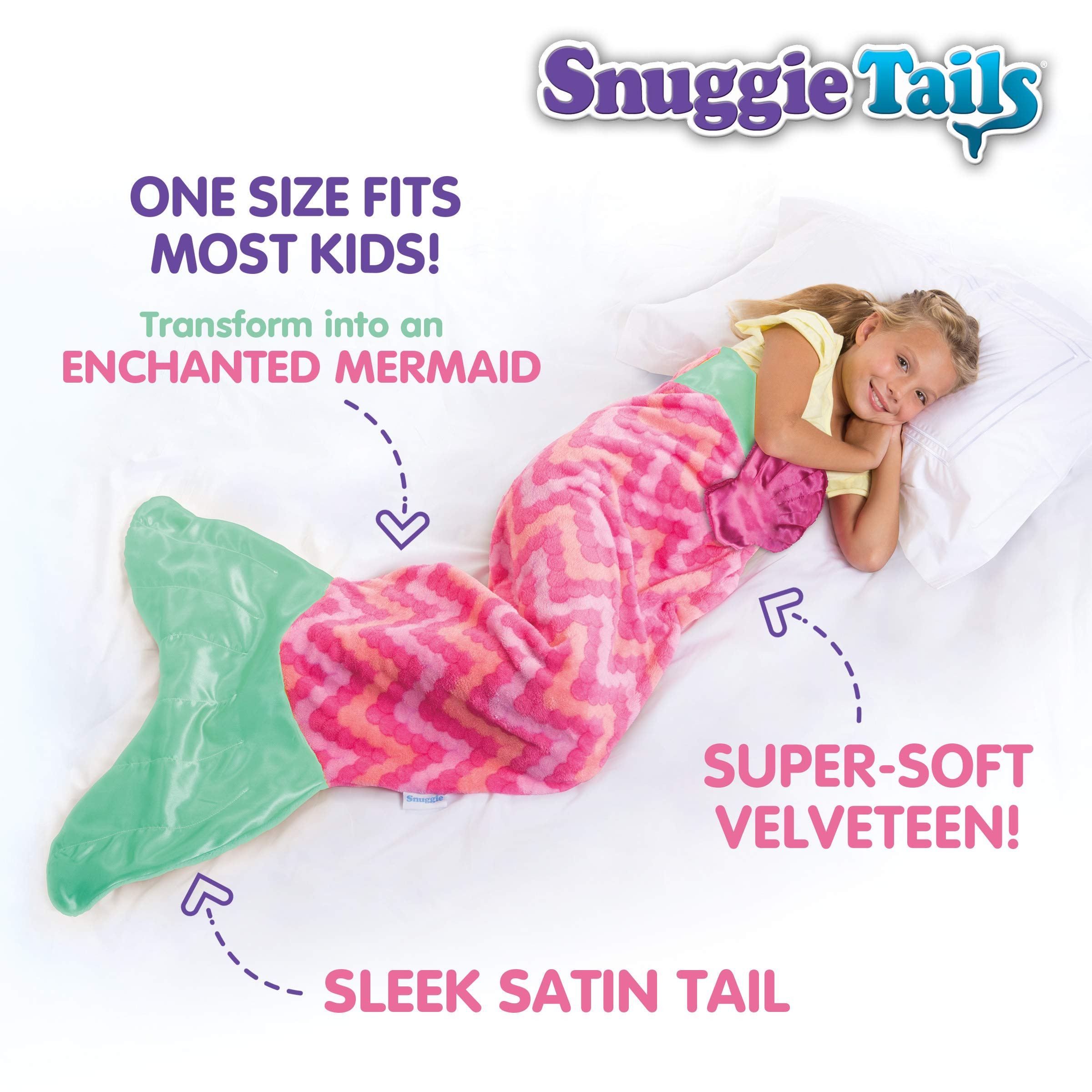 Snuggie Tails Allstar Innovations Mermaid Blanket for Kids (Pink), As Seen on TV by Snuggie Tails (Image #3)