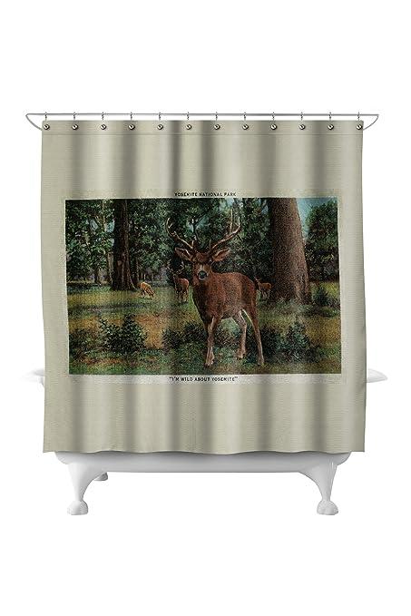 Amazon Buck Deer At Yosemite National Park 71x74 Polyester