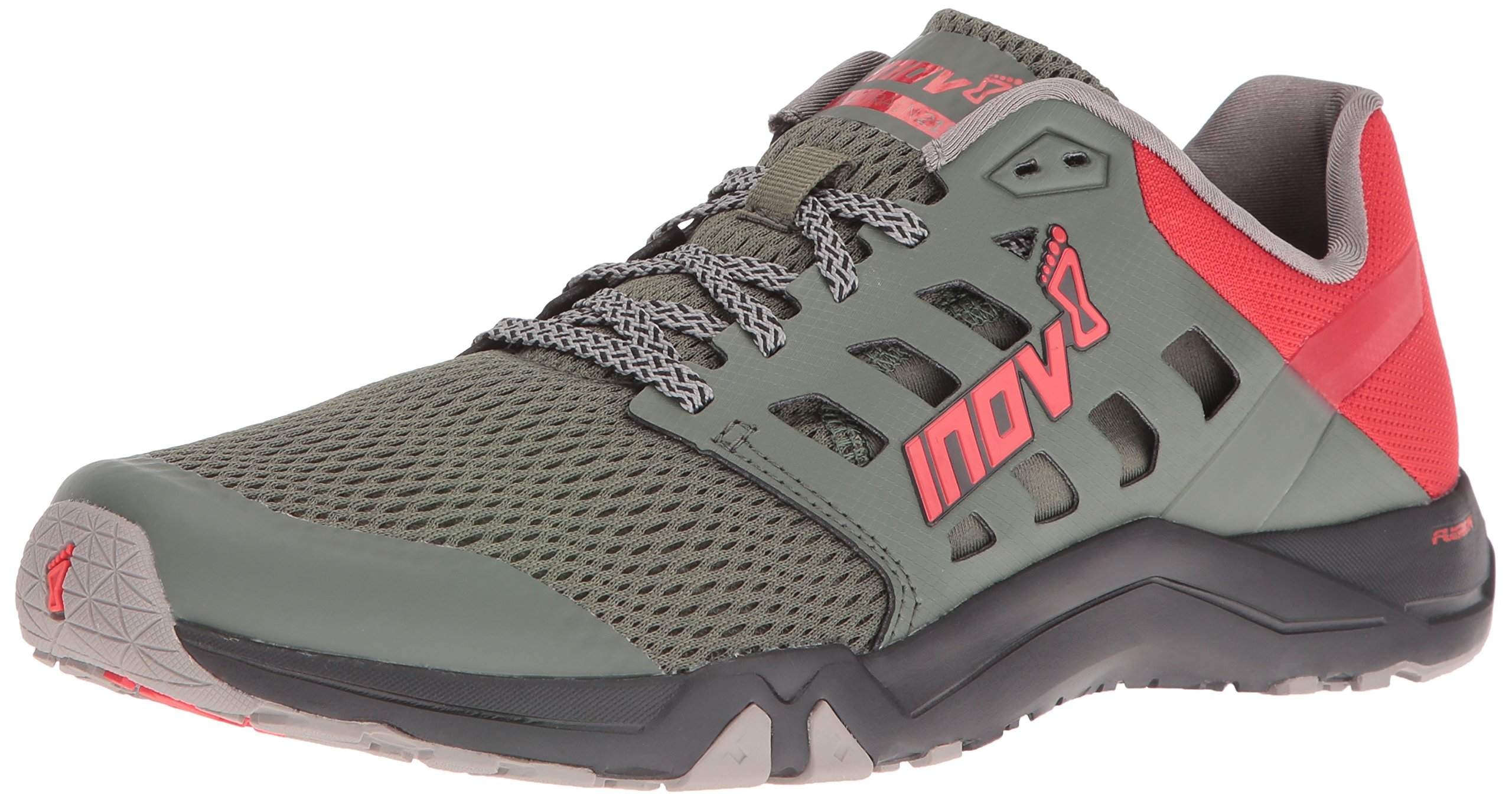 Inov-8 Men's All Train 215 Cross-Trainer Shoe, Dark Green/Red/Black, 12 D US