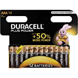 Duracell Plus Power Batterie Alcaline, Stilo AAA, Confezione da 12