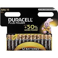 Duracell Plus Power , LR03/MN2400, Batterie Alcaline, Ministilo, AAA, confezione da 12