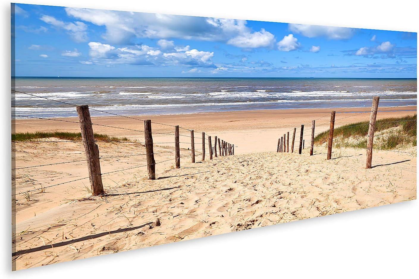 islandburner Cuadro en Lienzo Camino a la Playa de Arena del Mar del Norte en Zandvoort aan Zee Cuadros Modernos Decoracion Impresión Salon