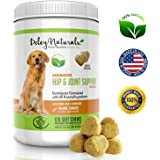 Deley Naturals, Advanced Arthritis Pain Relief for Dogs. Best Glucosamine for Dogs with Chondroitin, MSM & Organic Turmeric. 100% Natural Hip & Joint Supplement for Dogs. 120 Chicken Soft Chews