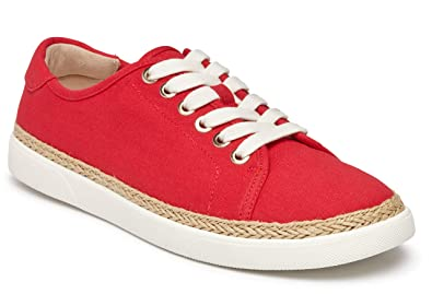 df88b4c627b514 Vionic Women s Sunny Hattie Lace-up Sneaker - Ladies Sneakers Concealed  Orthotic Arch Support Cherry