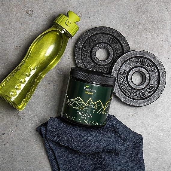 Creatina Monohidrato PURA 99% Vegavero® Sport | La Única Testada en Laboratorio | Sin Aditivos | Aumentar Masa Muscular | 500 g | Pre Workout | ...