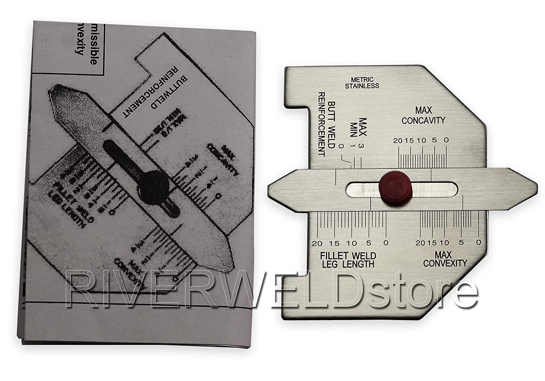 Tamaño automático de soldadura autógena calibrador de ajuste de soldadura Inspección Métricas: Amazon.es: Bricolaje y herramientas