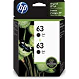 HP 63 Black Original Ink, 2 Cartridges (T0A53AN)
