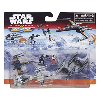 Star Wars The Force Awakens Micro Machines Deluxe Vehicle Pack Galactic Showdown: Toys & Games