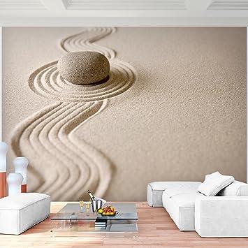 Fototapete Sand Garten 396 x 280 cm Vlies Wand Tapete Wohnzimmer ...