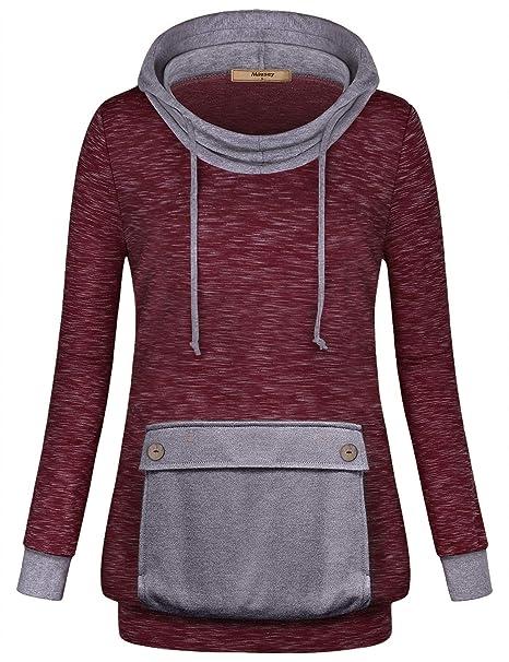 Amazon.com  Miusey Womens Long Sleeve Lightweight Hoodie Sweatshirt ... 1b63049cb6