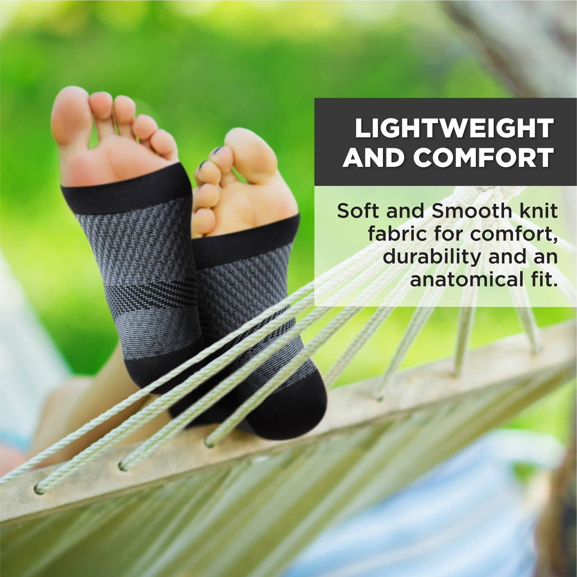 Plantar Fasciitis Socks for Men and Women - Foot Compression Sleeves for Arch Pain - Heel Spur - Achilles Tendon Pain - Foot Sweling by PURE SUPPORT by Pure Support (Image #4)