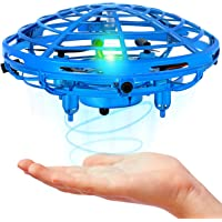 WO Mini Drone for Kids and Adults, Hand Operated Flying Toy with 360° Rotating and LED Lights, Kids Drone, Hand Drone, UFO Drone, Hand Controlled Flying Ball, Indoor Toys for 5 6 7 8 9 10 11 12 Years