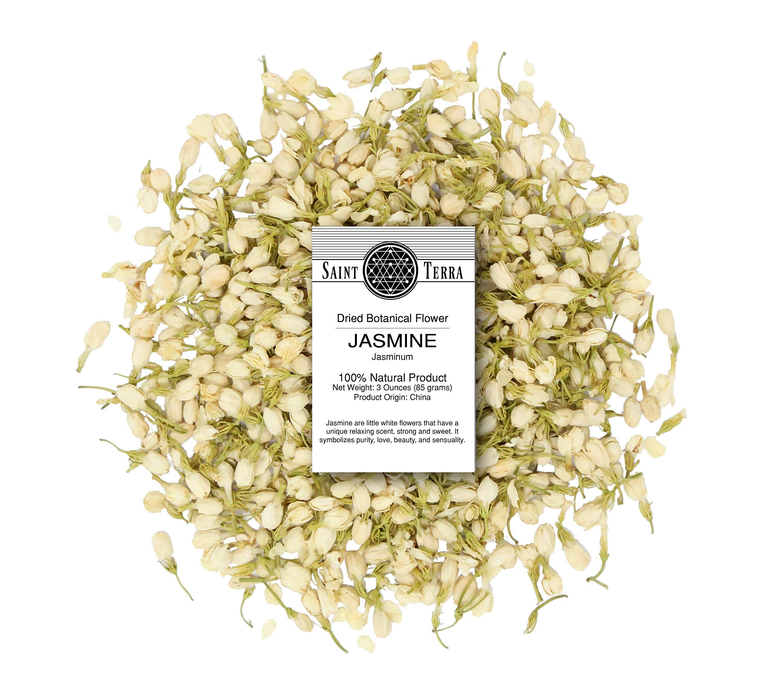 Saint Terra Dried Jasmine Flowers, 3 Ounces