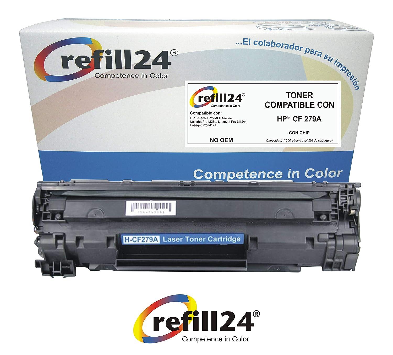 Cartucho de Tóner HP CF279A 79A Compatible con HP Laserjet Pro M12 ...