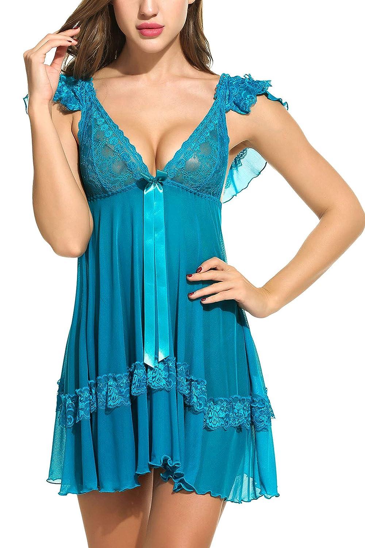 Avidlove Women Babydoll Mesh Nightwear Lace Lingerie Teddy #ALL005262