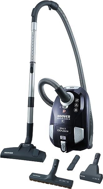 Hoover Space Explorer SL40PET Aspiradora con bolsa, Almacenamiento compacto Nanopack, Cepillo pelo de mascota, Suelos duros y alfombras, Parquet, Filtro Epa, 2 litros, 75 Decibelios, Plástico, Azul: Hoover: Amazon.es: Hogar