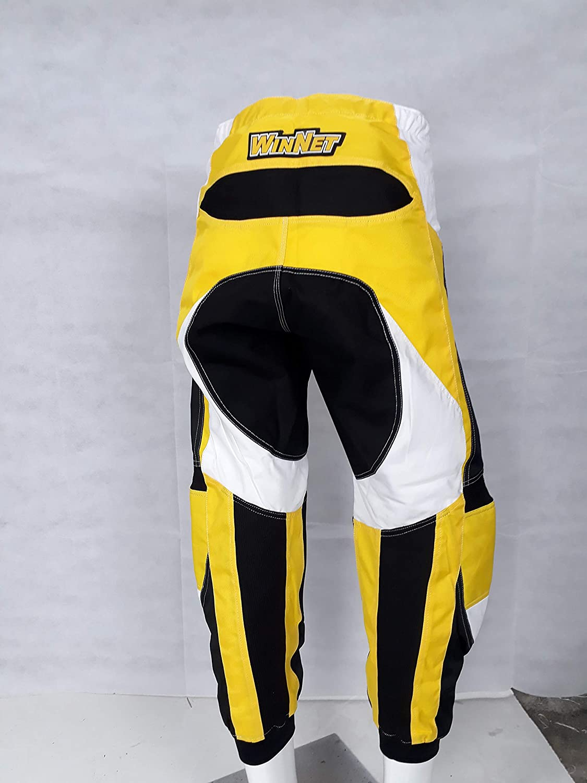 WinNet completo tuta per moto da cross enduro maglia 3XL pantaloni GIALLO