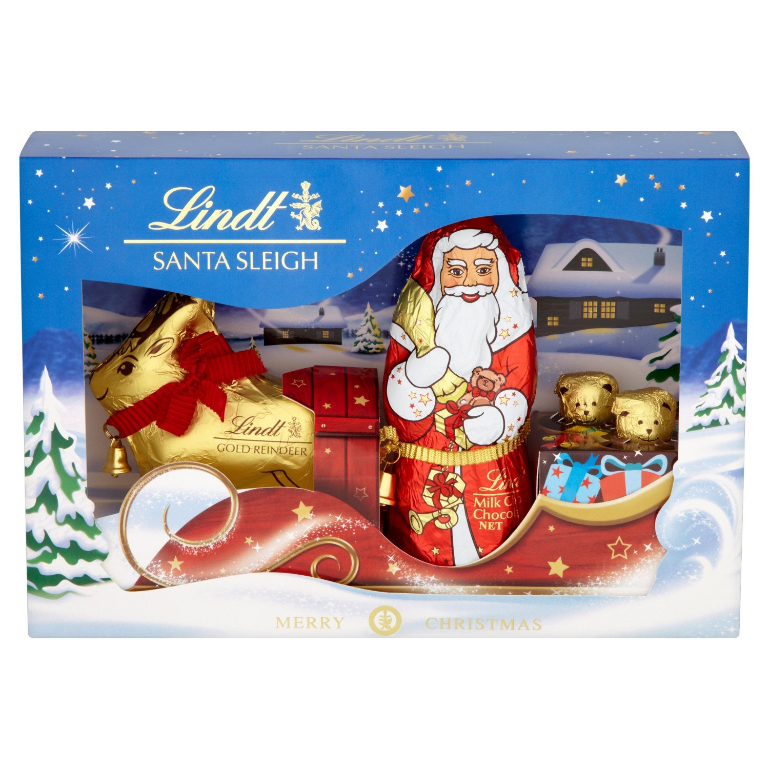 lindt santa sleigh gift pack 245 g pack of 1 amazon co uk grocery