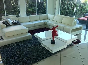 High Quality 8879A   Modern High Gloss White Coffee Table