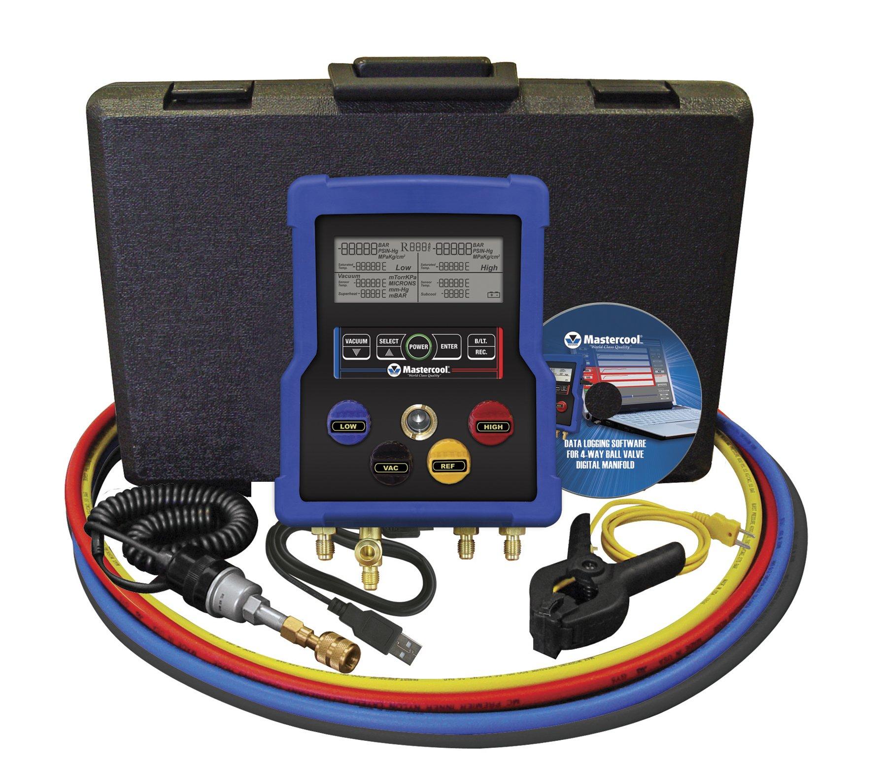 MASTERCOOL (99961 Blue HVAC Digital Manifold and Data Logger