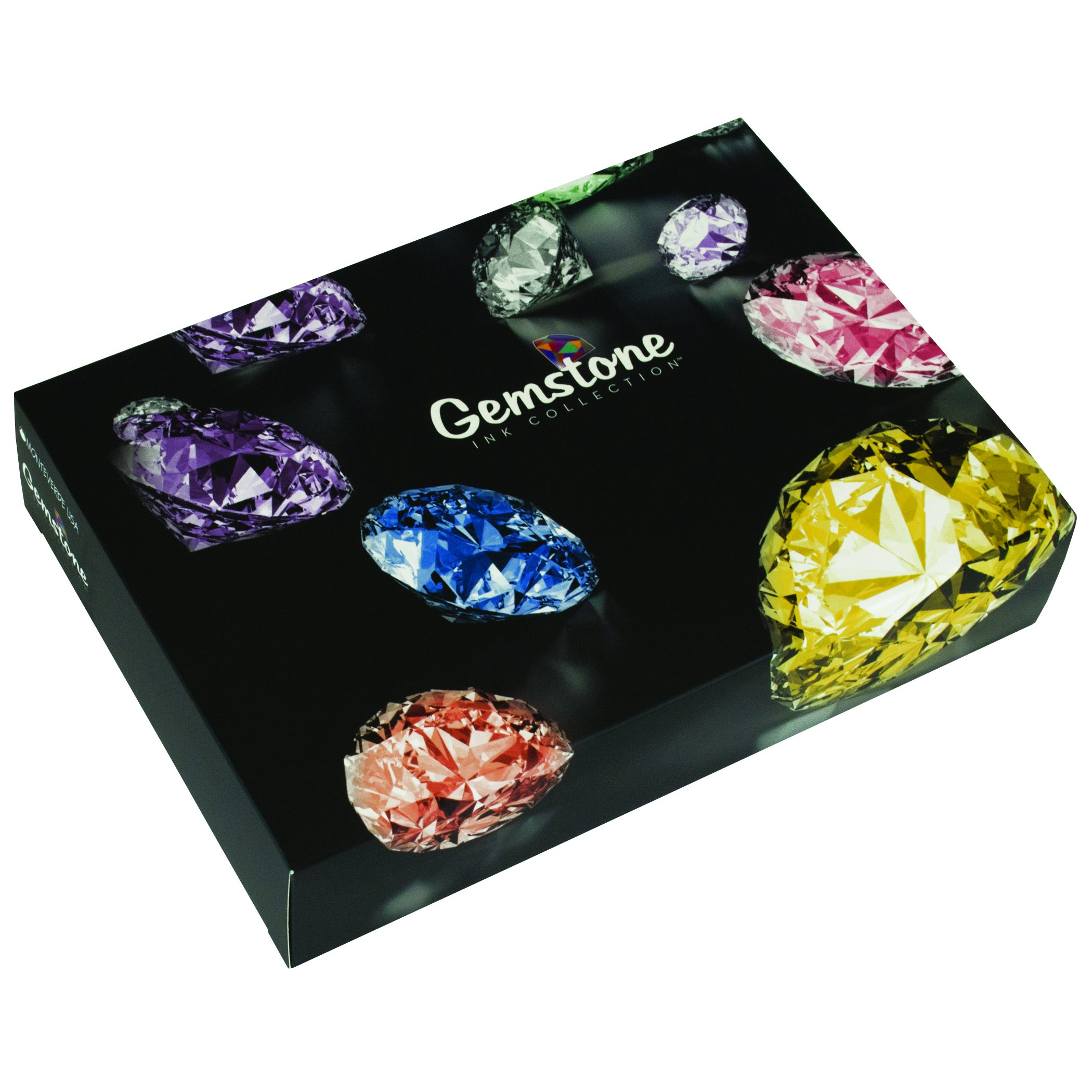 MONTEVERDE Gemstone Ink Collection Gift Set Fountain Pen Refill, Various Colors (MV12373) by Monteverde (Image #2)