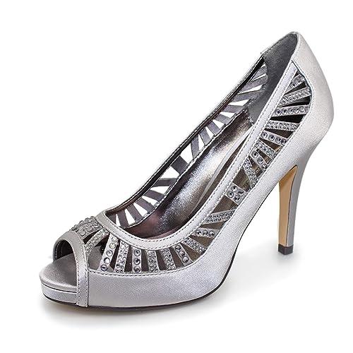 9e3b6626c Lunar Ladies Marie Diamante Heels: Amazon.co.uk: Shoes & Bags