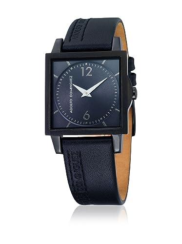 f96393a2adfb Adolfo Dominguez Watches 69092 - Reloj de Señora Cuarzo Correa de Piel  Negra  Amazon.es  Relojes