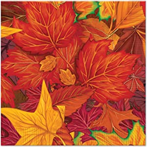 Beistle Fall Leaf Luncheon Napkins (16 Pack), Multicolor