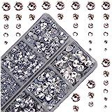 4000 piezas de cristales redondos de gran tamaño para fijar en caliente con piedras de vidrio y parte trasera plana…