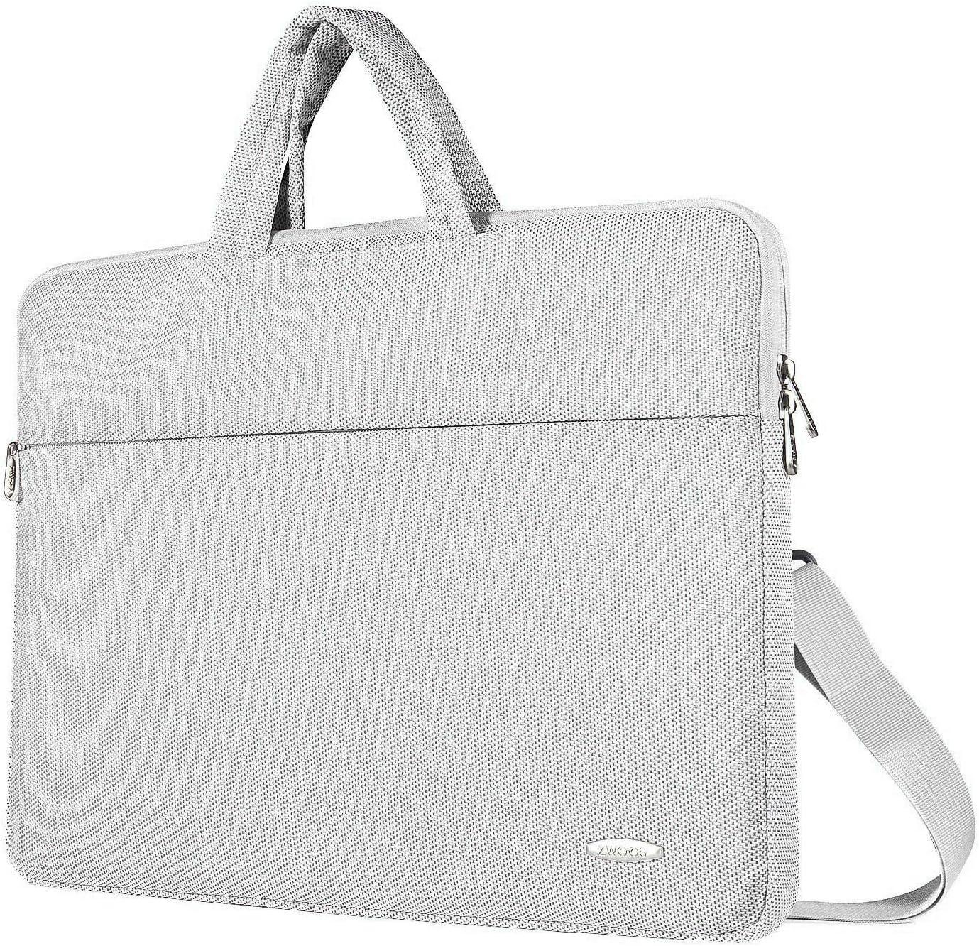 ZWOOS Laptop Case Bag, Water-resistan Protective Laptop Shoulder Carrying Case With Shoulder Strap and Handle for 12 12.9 13 inch Lenovo Acer Asus Dell Lenovo Hp Samsung Ultrabook, Grey