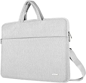 ZWOOS Laptop Case Bag, Water-resistan Protective Laptop Shoulder Carrying Case With Shoulder Strap and Handle for 14 15 15.6 inch Lenovo Acer Asus Dell Lenovo Hp Samsung Ultrabook Chromebook 15,Grey