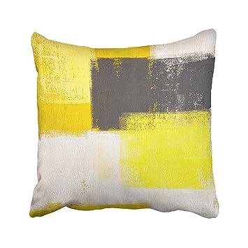 Schon TAROLO Deko Grau Und Gelb Rot Abstrakte Kunst Kissenbezug Baumwolle  Kissenbezüge Kissenbezug Größe 50,8