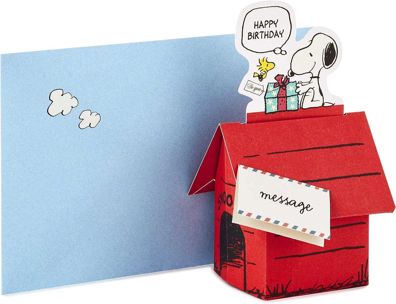 Hallmark Pop Up Peanuts Birthday Card (Snoopy Dog House)