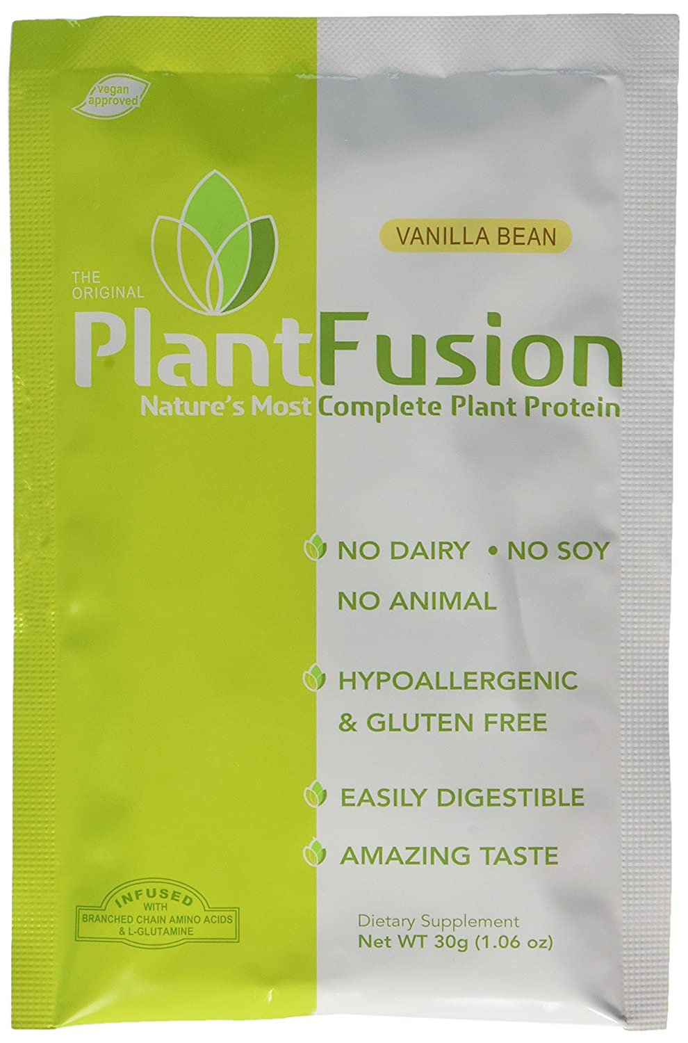 PlantFusion Complete Plant Protein, Vanilla Packets, 30 Gram pack Of 12
