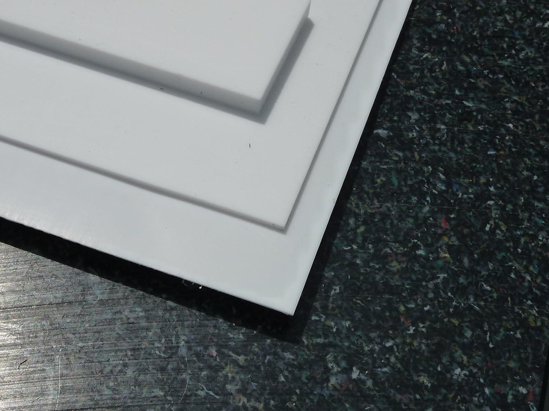 wei/ß Platte aus PTFE Zuschnitt PTFE Dichtung 195 x 195 x 10,0 mm Teflon