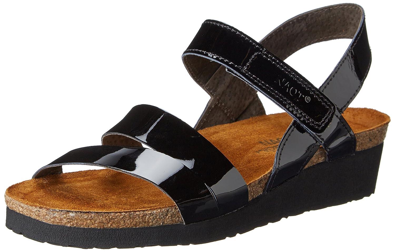 NAOT Women's Kayla Wedge Sandal B001AGJMOS 43 M EU / 12 B(M) US|Black Patent