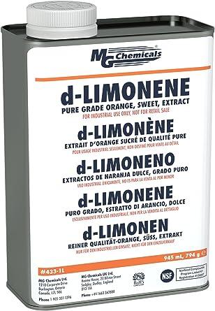 MG Chemicals d-Limonene (Pure Grade) limpiador desengrasante y 3d ...