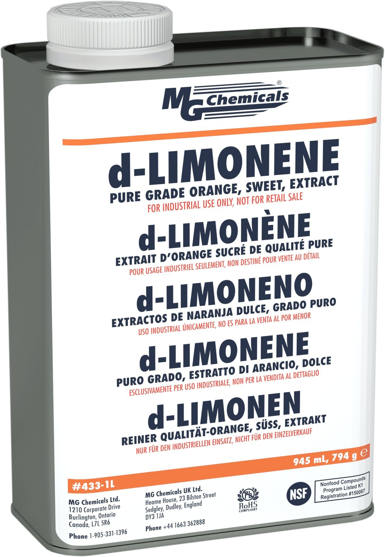 MG Chemicals d-Limonene (Pure Grade) Cleaner